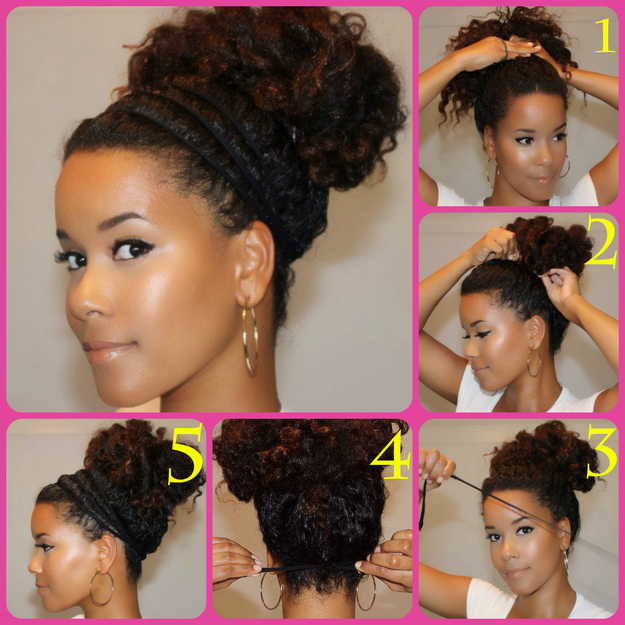 jadabeauty.com   (the halo bun)